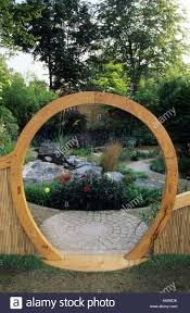 Small Picture Feng Shui garden London Design Pamela Woods circular moon gate and
