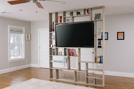 Hand Crafted Lexington Room Divider Bookshelf Tv Stand Ron With Open  Bookcase Room Divider