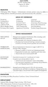 Office Manager Sample Resume New Sample Business Office Manager Resume Samples Resumes Examples