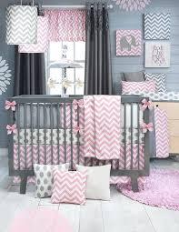 pink and grey crib bedding baby girls bedding sets unique girl nursery set regarding design pink