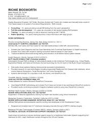 Qa Manual Tester Sample Resume Foodcity Me