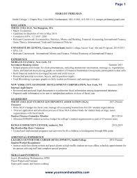 Resume Sample Templates Model Format Bpo For Freshers Pdfchers