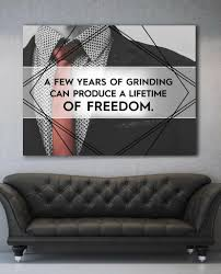 office canvas art. A Few Years Of Grinding Motivational Inspirational Office Canvas Wall Art (Wooden Frame Ready To T