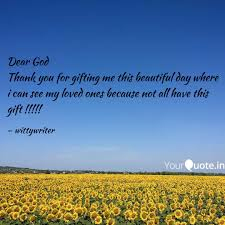 Dear God Thank You For Gi Quotes Writings By Short Fables