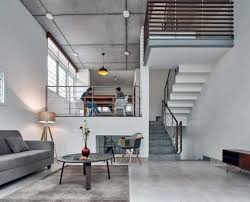 Concrete Stair Design For Small House House S Three Floor House With Concrete Staircase And