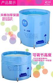 Blue Bathtub portable bathtub fold tub waterproof cloth bath adult children 6736 by guidejewelry.us