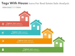 Powerpoint Real Estate Templates Four House Tags For Real Estate Market Powerpoint Slides