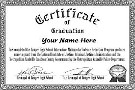 Congratulation Certificate Danger High Certificate