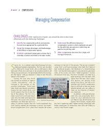 Pdf Chapter 10 Managing Compensation Sampath Nani