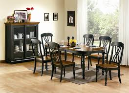 spanish country style dining room with 7 piece mackenzie black dining set antique black