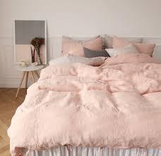 blush linen duvet cover. Unique Cover Blush Coral Linen Duvet Throughout Cover