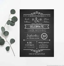 Diy Invitation Template Chalkboard Rustic Diy Wedding Invitation