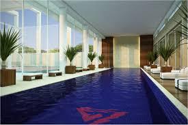 Indoor Outdoor Pool Residential View In Gallery Brilliant Pendant Lights Illuminate The Indoor