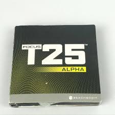 dels about t25 focus alpha beta 9 dvd set beachbody workout cardio exercise sd core