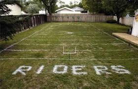 Super Bowl XLIX Backyard Football Field  YouTubeFootball Field In Backyard