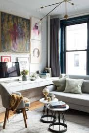 Office space in living room Family Making The Most Of 500squarefoot Apartment Front Main Small Room Designliving Neginegolestan 356 Best Small Space Living Images In 2019 Daybed Small Space