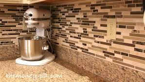 Kitchen Backsplash  Contemporary Stick On Backsplash Tiles Easy Backsplas