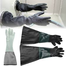 1 pair 23 6x11 durable soft heavy duty protective sandblasting replacement machine gloves for