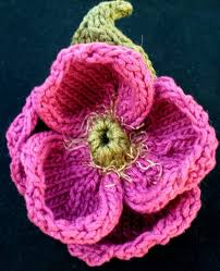Knitted Flower Pattern Extraordinary Instant Download PDF Knit Flower Pattern Peony Knitted Etsy