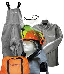 40 Cal Cm Salisbury Arc Flash Protection With Jacket Bib Overalls And Lift Front Hood Kit