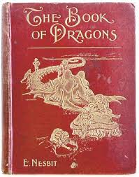 the book of dragons e nesbit 1901 red book with golden embossed letters and dragon ilration on cover books old ilrated covers
