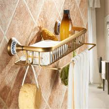 Venstl Badezimmer Keramik Antik Messing Duschkorb Regal