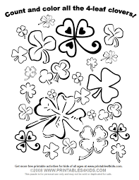 lucky clover counting worksheets printables4kids free coloring pages, word search puzzles, and on word search worksheets free