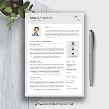 Modern Resume Template 2019 Cv Template Cv Layout Cv Design Fully Editable Ms Word Resume Cover Letter And References For Instant Download Mia
