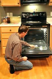 inch slide in convection electric range amana glass top stove repair