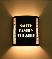 lighting for home theater. Custom Theater Sconce With Vertical Filmstrips Lighting For Home