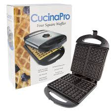 Non Stick Kitchen Appliances Amazoncom Cucinapro 1473 Non Stick Four Square Waffle Maker