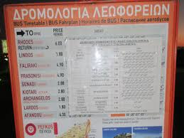 bus time table