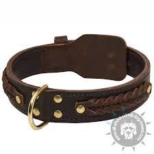 braided leather pitbull collar