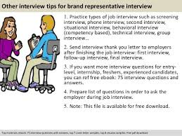 Questions For Second Interview Brand Representative Interview Questions Theailene Co