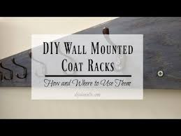 Diy Wall Mounted Coat Rack How To Build A Custom Wall Mounted Coat Rack YouTube 21