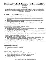 Sample Of Nursing Resume Extraordinary EntryLevel Nursing Student Resume Sample Tips ResumeCompanion