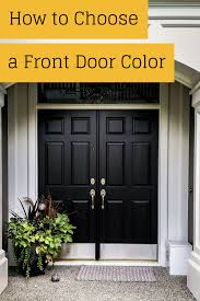 Ever wondered how to pick a front door color? This is a post just ...