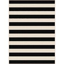 gct1001 8x10 8 x 10 large black stripe indoor outdoor rug garden city