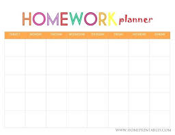 Homework Calendar Templates Awesome Homework Planners From Daily Calendar Templates Planner Template