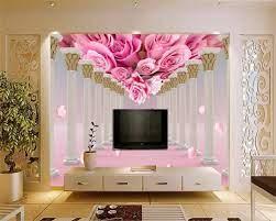 3D Wallpaper Mural Rose Flower ...