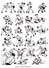 Wrestling Moves Chart Greco Roman Wrestling French Dictionary Plate Instant