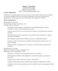 Preschool Teacher Resume Kindergarten Teacher Resume Experienced