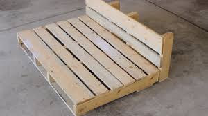 diy pallet dog bed under construction