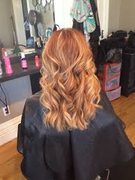 Soft Blonde Highlights On Natural Red