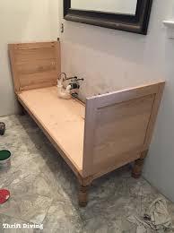 building a diy bathroom vanity building sides thrift