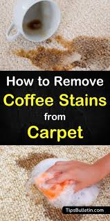 Mix one tablespoon of liquid dish soap, one tablespoon of white vinegar, and two cups of warm water. 6 Incredibly Easy Ways To Remove Coffee Stains From Carpet