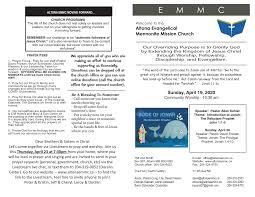 April 19 2020 Bulletin