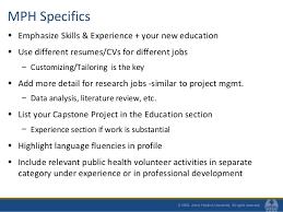 mph specifics sample public health resume