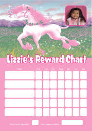 Unicorn Star Chart Personalised Unicorn Reward Chart Adding Photo Option Available