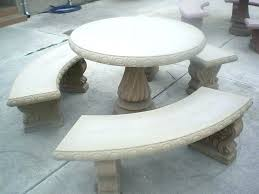 outdoor cement table concrete round table and benches outdoor bench design concrete patio table and benches